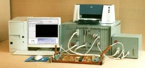 """Система контроля цифро-аналоговых блоков """"Крона-512"""" при проверке электронного блока"""