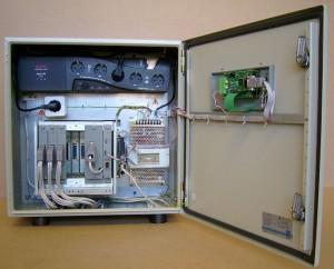 """Вид внутри поста контроля напряжения электрической сети """"Крона-515"""""""