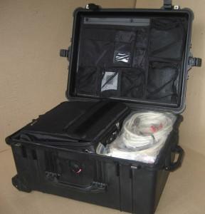 Стенд контроля параметров электроприводного оборудования Крона-517 ; уложенный в кейс для транспортировки