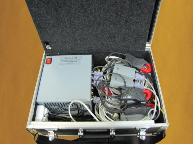 Стенд диагностики электроприводной арматуры Крона-517М (вид внутри)