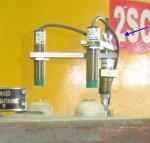 """Фотография датчиков положения положения на золотниках автомата безопасности турбины при измерении параметров системы регулирования и защиты турбины системой """"Крона-522"""""""